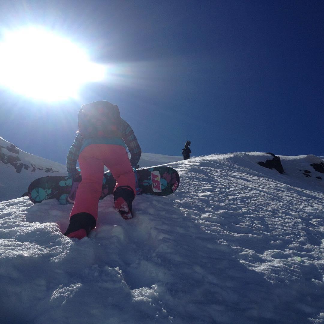 Con Coqui atrás del filo primera vez! (12 años!) #nofilter #sanmartindelosandes #snowboarding