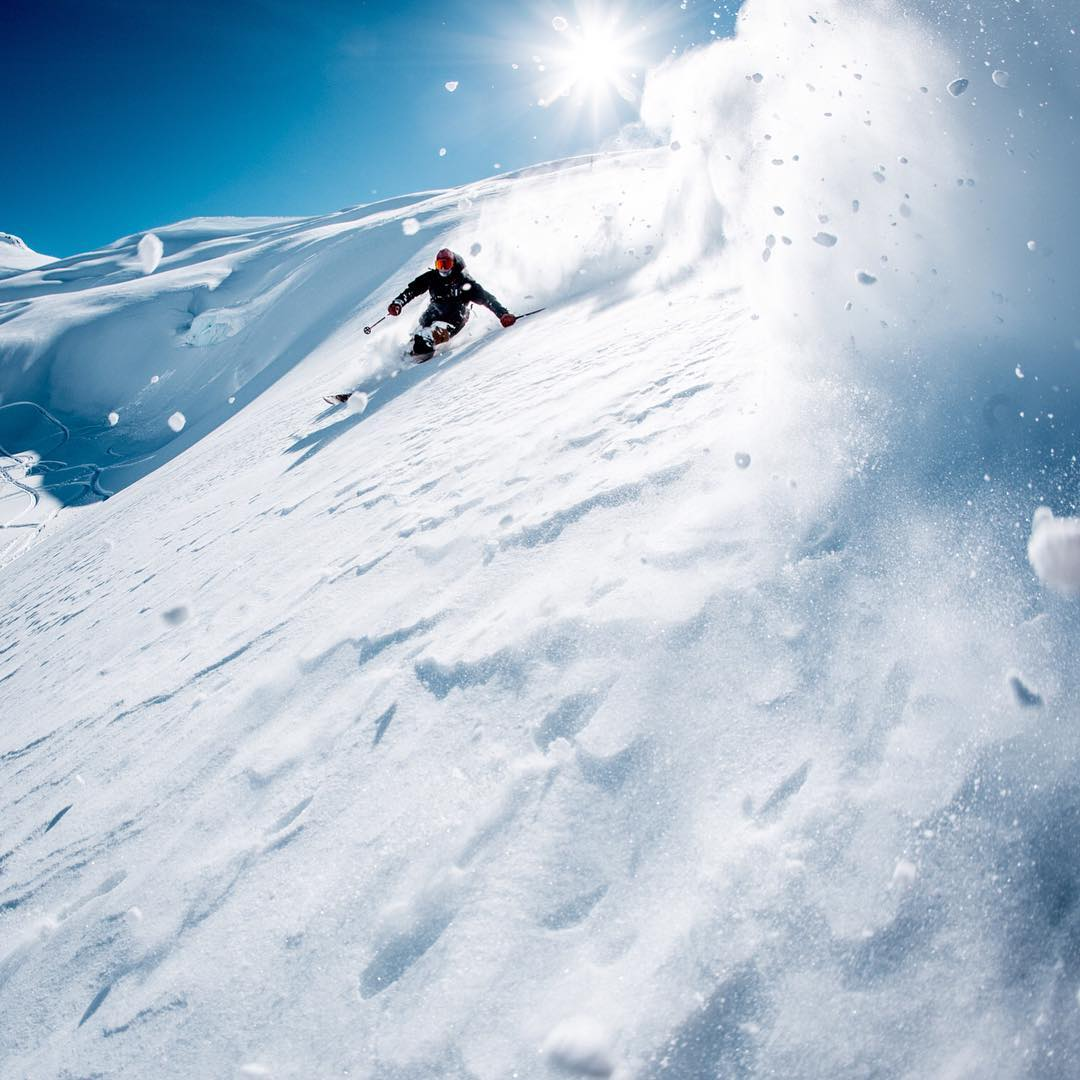 Sunny mornings filled with endless  pow laps will be here soon. @chrisbenchetler