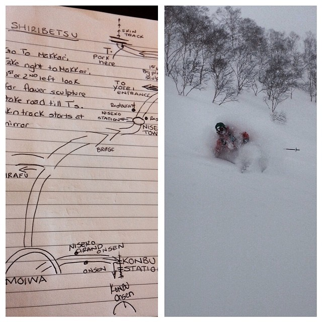 Good maps from good people can lead to good skiing. Thanks Gomez! #some_thing_else #powderwhoresjapan