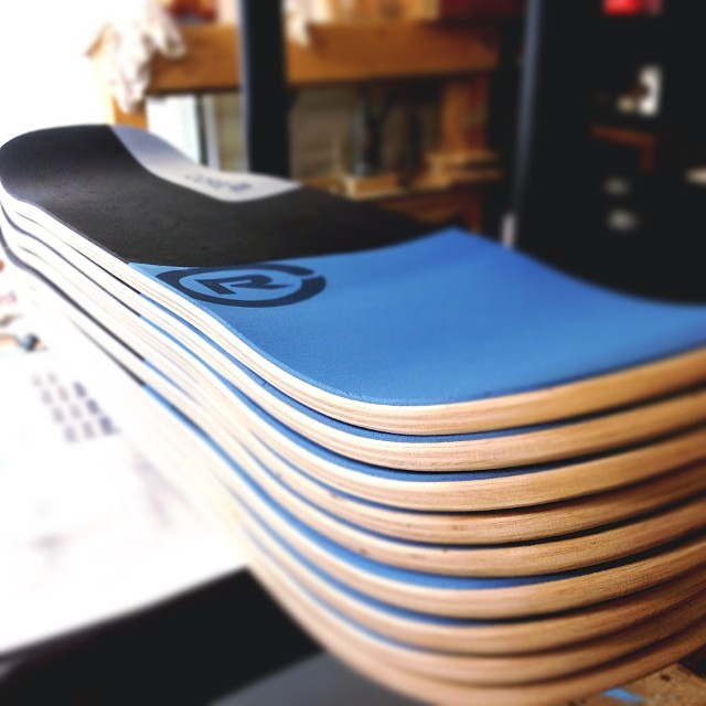 Stack of Core 32 balance boards ready for shipping