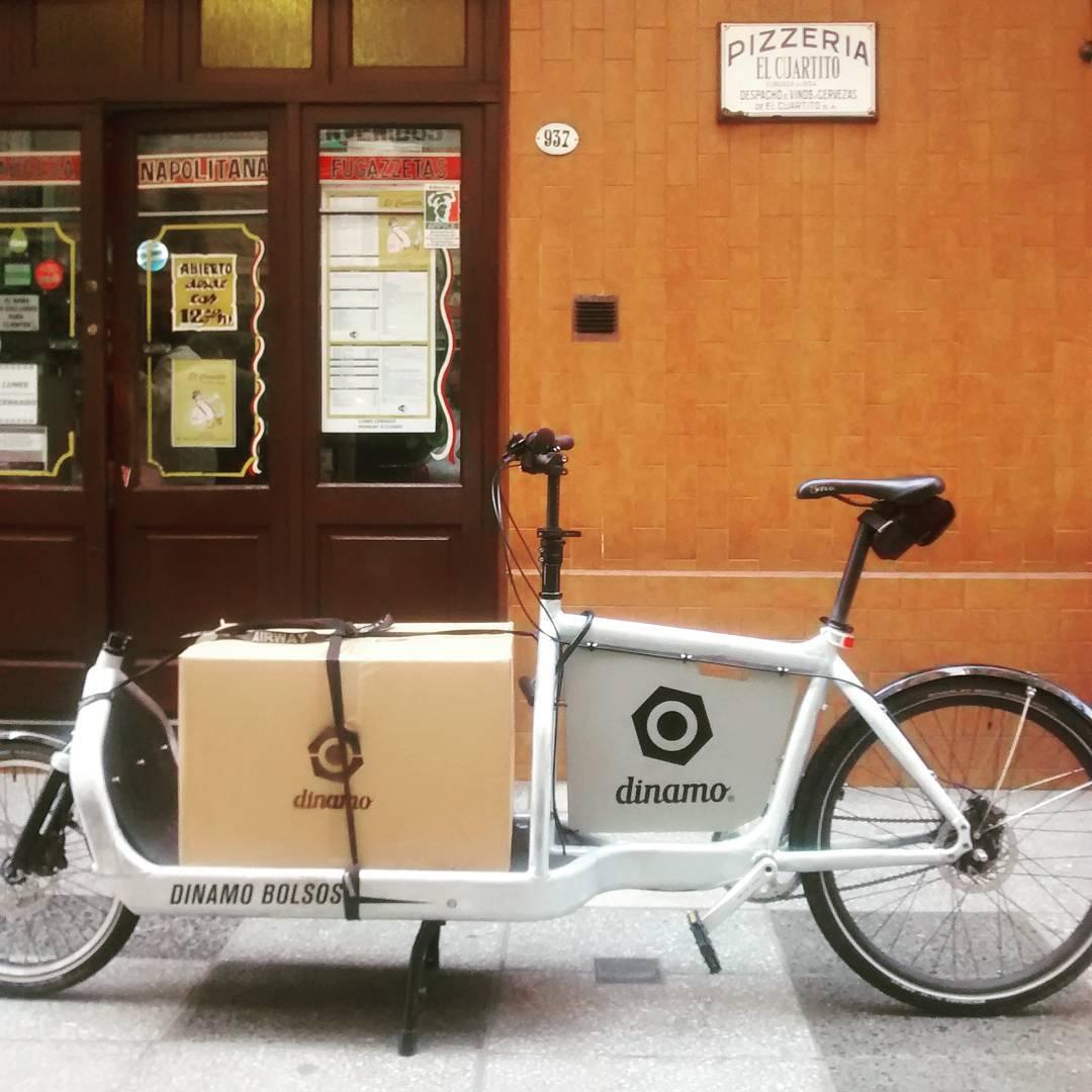 Si venimos a entregar al centro esta parada es obligada.  #bikelife #onelesscar #pizzerias #buenosaires