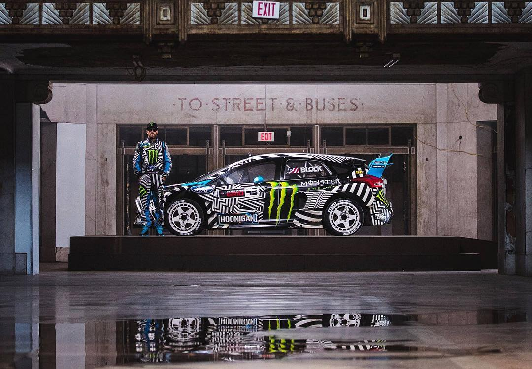 Fun fact: we had to build that rotating stand in the intro #GymkhanaNINE because we could not leave tire marks on the Buffalo Central Station floor. I really liked how that element turned out for the intro, and it made for some dope photos like this...
