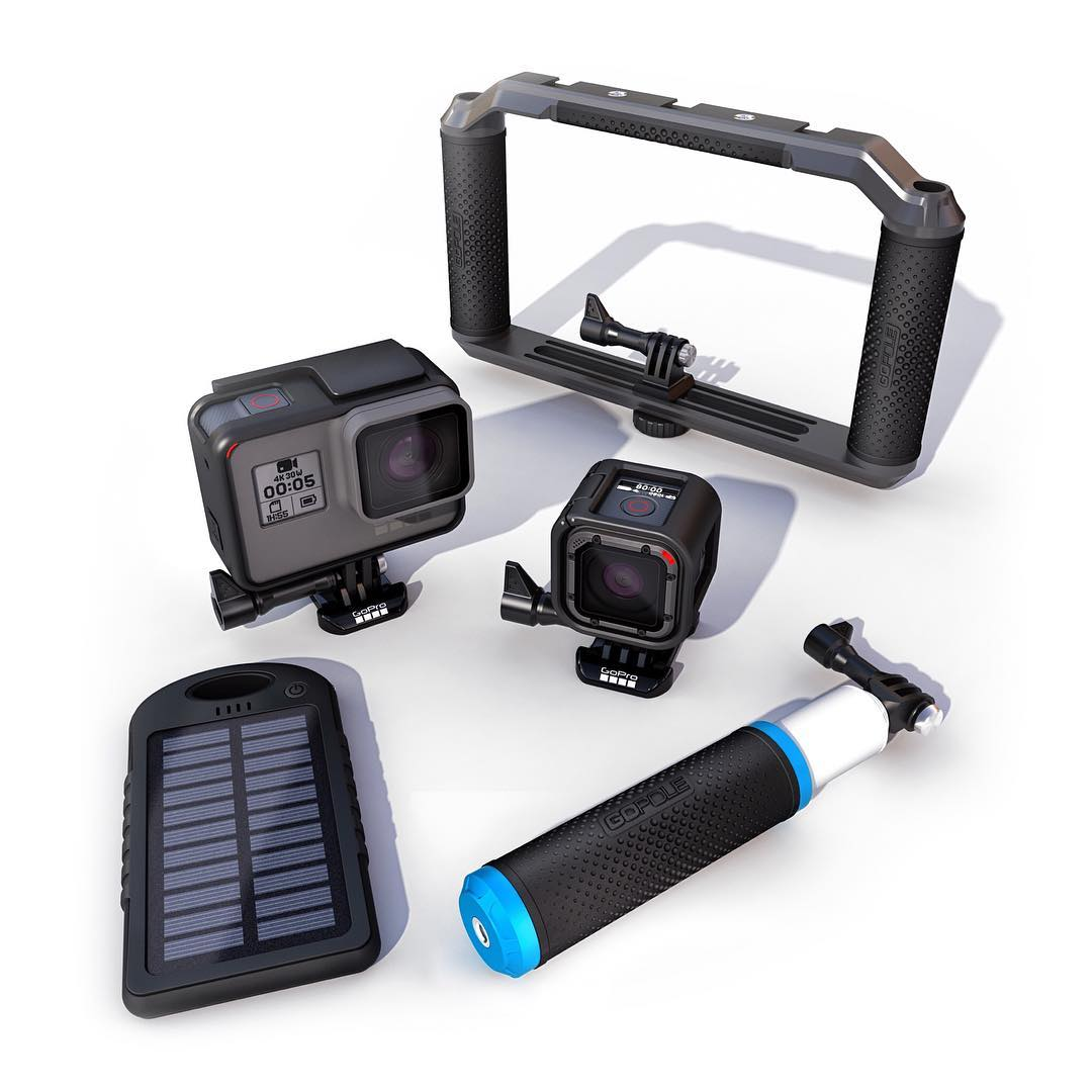 HERO5 family, meet our extensive line of perfectly compatible GoPole accessories. All ready to expand the way you use the new GoPro HERO5 Black and HERO5 Session cameras. #GoPro #HERO5 #HERO5Session #GoPole