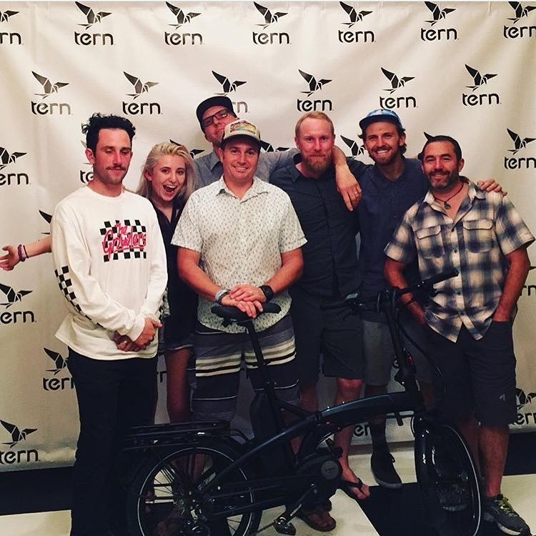 Awesome team and an awesome pool party last night hosted by @ternbicycles. We're ready for #interbike! #lasvegas