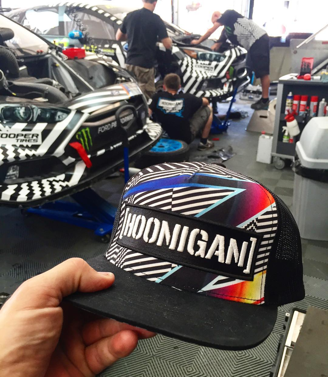 Current favorite hat from @TheHoonigans. Running this one on the daily. @FelipePantone #HooniganRacingbyFelipePantone