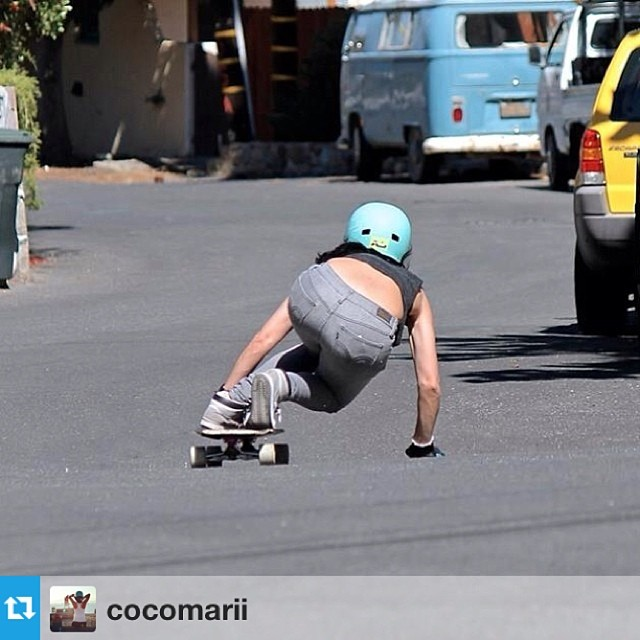 @cocomarii hugging the road on Catalina Island last week #skatergirl #marisanunez #xshelmets #california