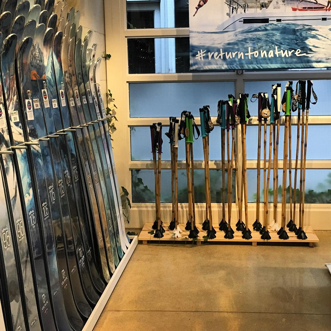If you're ever passing through Golden, Colorado, make sure to swing in and check out the super fresh Icelantic Panda Poles at the new Icelantic HQ!  These wands just got put out on the rack yesterday. Get 'em while they're hot!  #TribeUP Icey...
