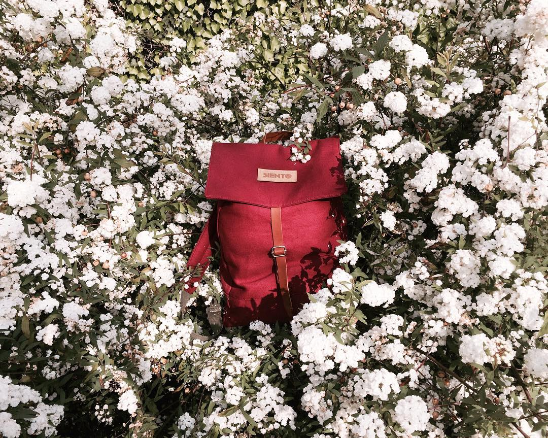 Bienvenida primavera!! Y bienvenida backpack bordó
