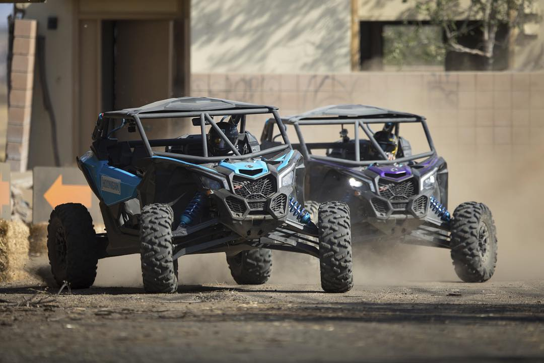 #BattleBROyale: Take a bunch of these really rowdy @canam Maverick X3s and pair that with our roster of hoonigans, divide them into teams and a competition is born. Full vid coming soon. #canam #maverickX3 #battlebroyale @kibbetech @chrisforsberg64