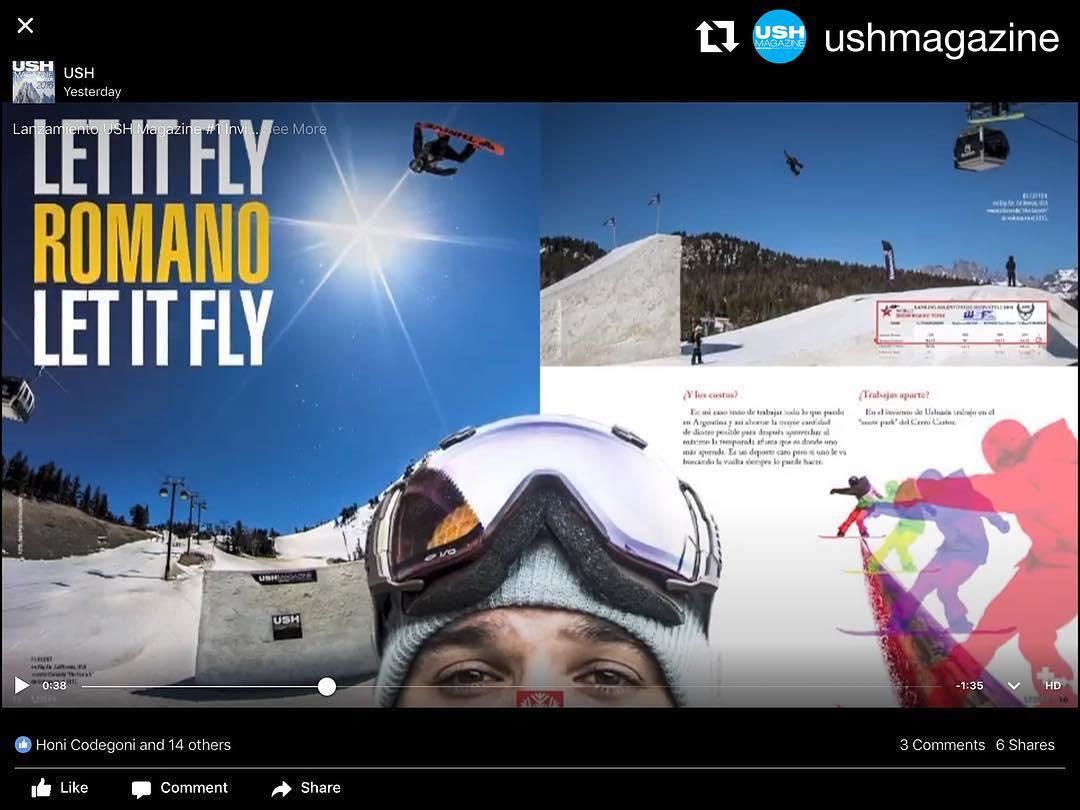 @federomanoo #thriveargentina #snowboarding #Repost @ushmagazine USH Magazine #video http://bit.ly/2aqbgVV