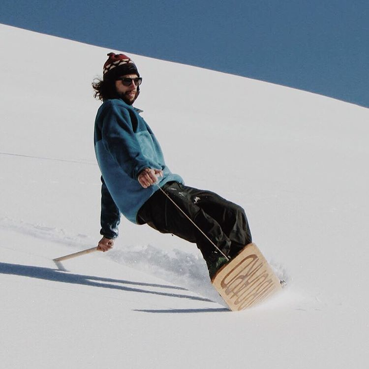 "If you find yourself in Jackson this weekend come get sendy with us at the Contour Music Festival. A weekend of music, art and good times that will cap off with ""Patagonia presents Foothills: The Unlinked Heritage of Snowboarding"". Shot by Wyoming's..."