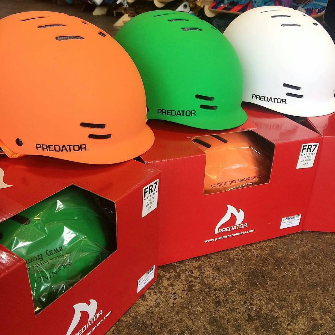 @Regrann from @twelveboardstore -  It's all about bright with the @predatorhelmets #FR7 helmet. #predatorhelmets #predatorfr7 #protectyourhead #newarrivals #twelveboardstore - #regrann