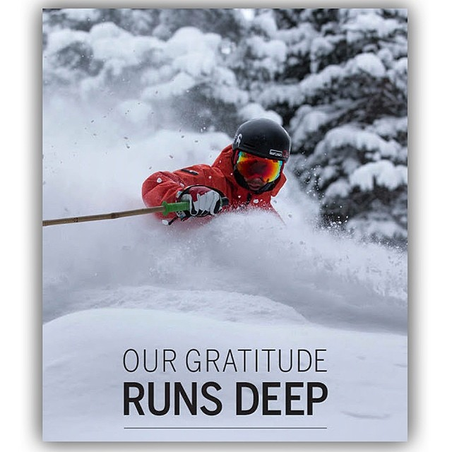Deer Valley gives thanks. Julian is probably pretty grateful. And we sure praise Jah for this beautiful photo... #TRIBEUP Yo!  Class 4D #pandalanche... @juliancarr @deervalleyresort #pandapoles #deervalley