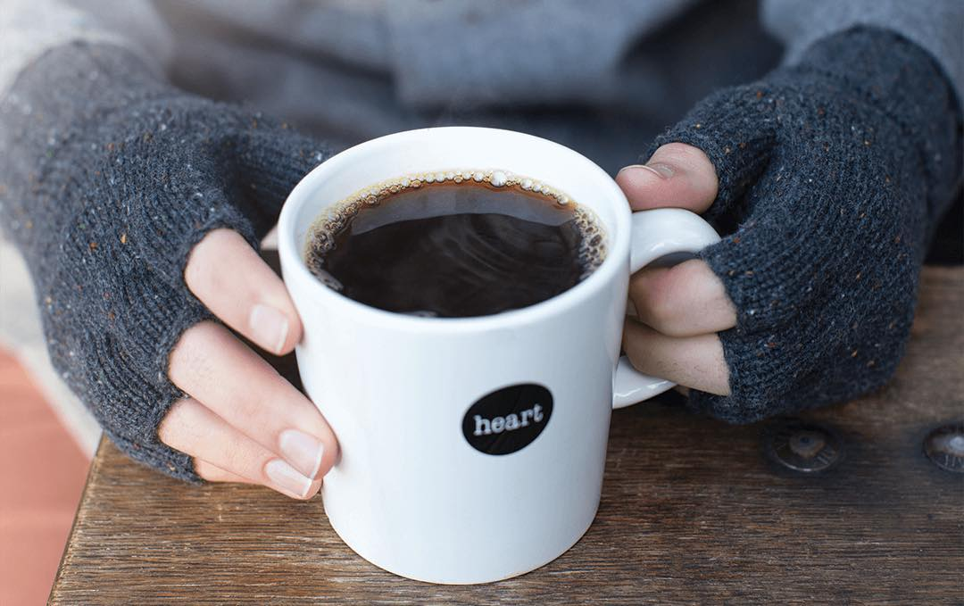It's fall, but hold the #PSL. Black coffee and cool mornings are fine by us. The Taylor Fingerless Gloves available now.