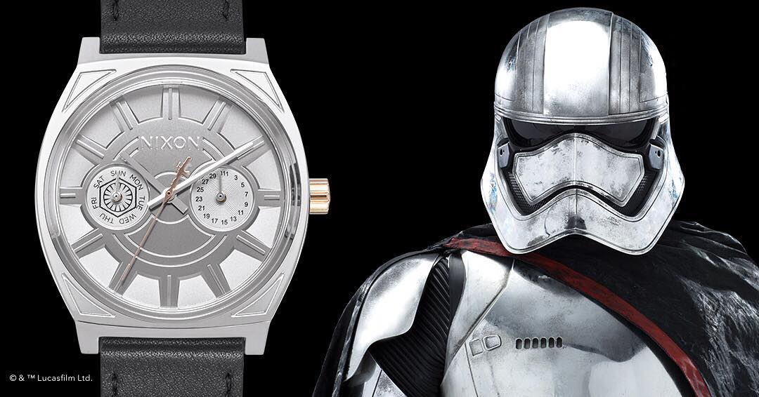The #TimeTellerDeluxe gets a First Order upgrade as part of the new #CaptainPhasma Collection.  #StarWars #Nixon