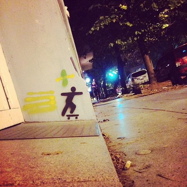 #urbanlife #urbanroach #skate #night #stencil #streetart #street #spray