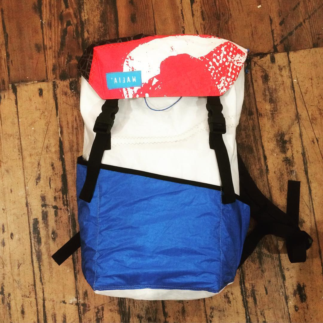 Our Up-Cycled #SurfPack colab project with the salty crew at @mafiabags is shaping up to be...award winning !