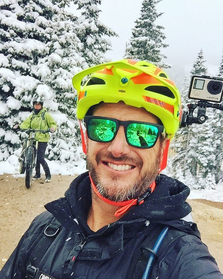 Fun day yesterday on the top of the mountains here in #ParkCity with my wifey. Although it's only September, it looked like Christmas! Got some good @GoPro #Hero4 footage coming soon. Pretty wild and sketchy riding through a surface mix of snow, fallen...