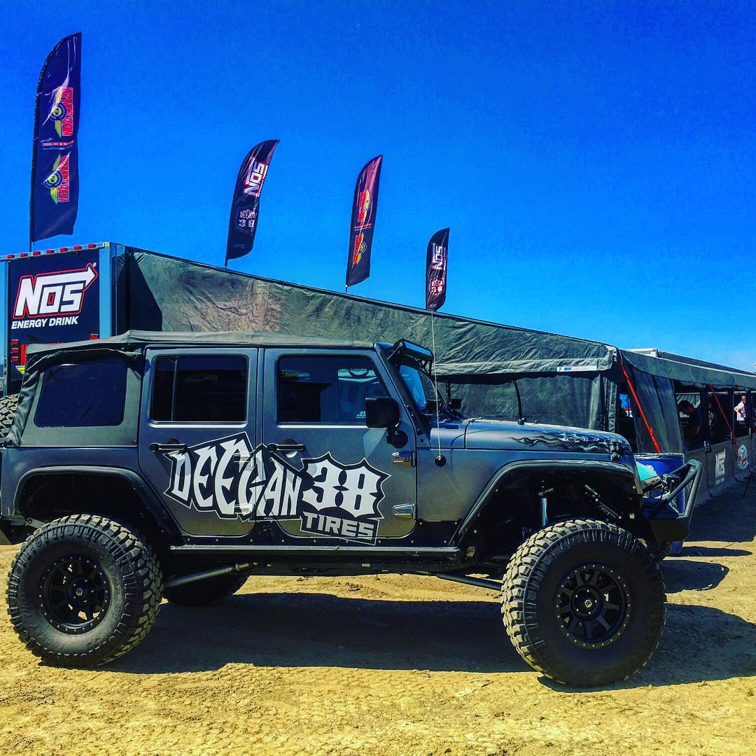 Come out tonight to @lucasoiloffroad #races Elsinore. Stop by pit check out #trucks n #jeep. #deegan38tires by @mickeythompsontires im 2nd row behind Carl. I will sign at my pits after races tonight !! @nosenergydrink