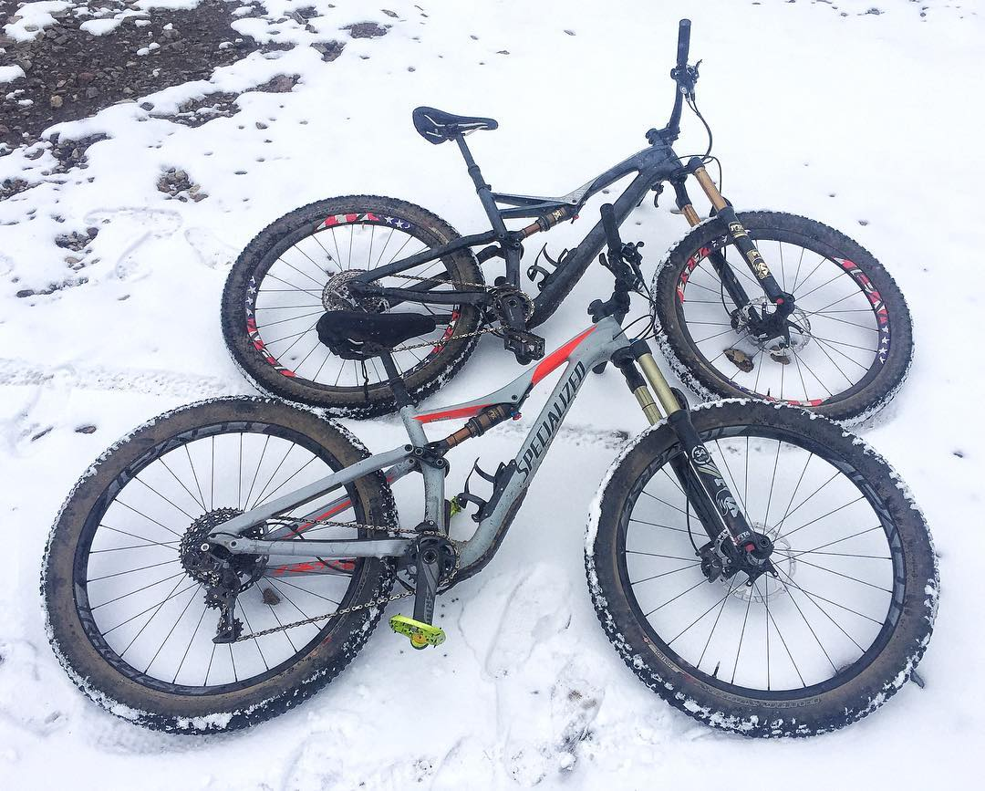 His and hers Stumpjumpers. Thanks again to @IamSpecialized for hooking wifey and me up with such amazing mountain shred machines to ride here in our hometown of #ParkCity. These things rip! #happywifehappylife #awesomewife #iamspecialized #StumpJumper