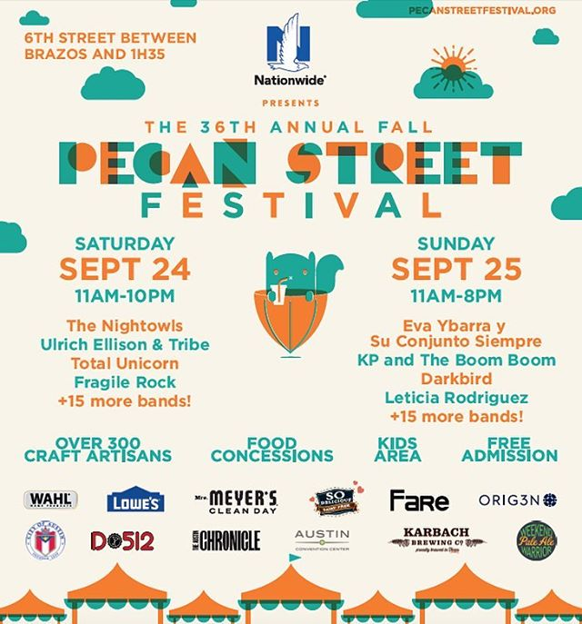 Pecan Festival is today and tomorrow!! The weather is beautiful, so grab your friends and get outside! The festival featured 300+ artists and craftsman, and live music. Family friendly and totally free. Support Local • #pecanfestival2016 #pecanfestival...