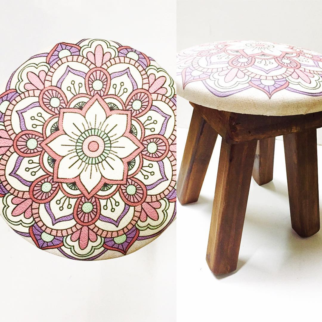 #Chilimango #banco #silla #decoracion #deco #decoration #mandala #peace #zen #yoga #banquito