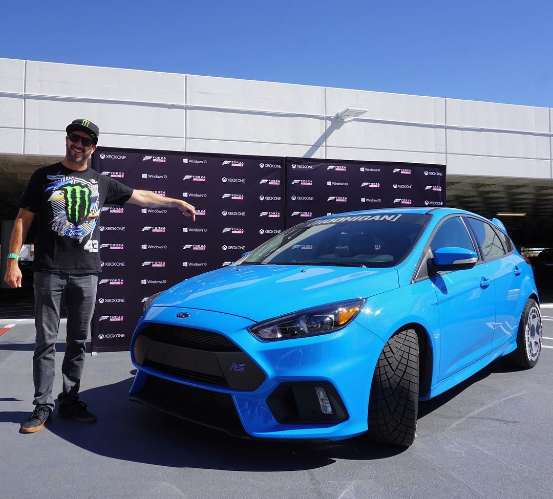 Oh, whoops! Turns out I actually had two different cars of mine here at The Petersen Museum today. My Gymkhana THREE Ford Fiesta ST was inside and my current Ford Focus RS daily driver was here outside for the Forza Horizon 3 launch event. Nice!...