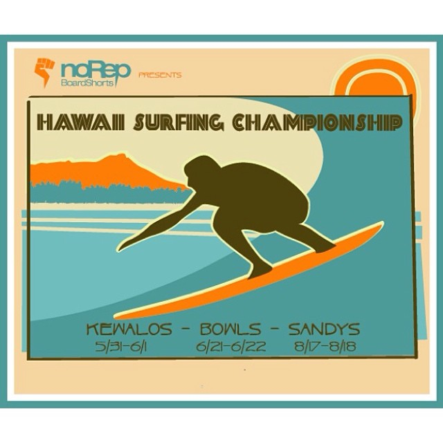 noRep Boardshorts presents the 2014 Hawaii Surfing Championship! A 3 event series at Kewalos, Bowls, and Sandys during Summer 2014. Featuring a Pro-Am invitational, shortboard, longboard, women's shortboard, and an open team challenge! Check out our...
