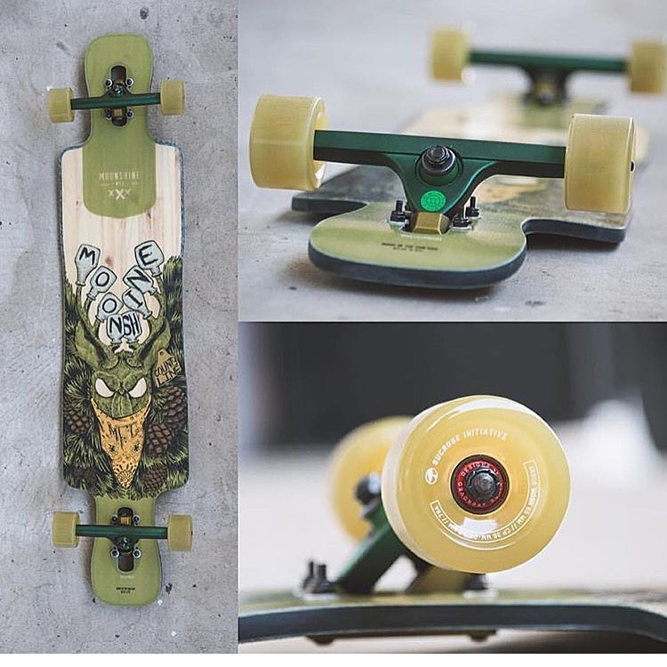 green and gold two tones looking good on this set up from @sbdwlongboardshop #caliber50