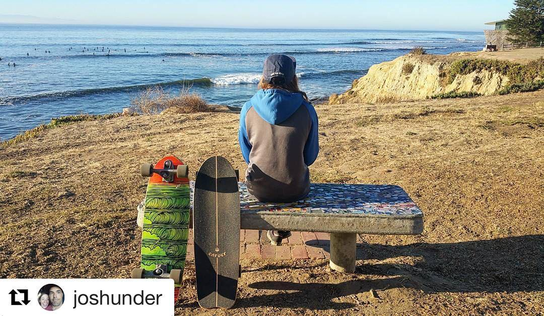 #Repost @joshunder with @repostapp ・・・ If you teach your wife to surf, and she ends up loving surfing as much as you do, there's never anyone on shore to take pictures when we are in the water. So here's a shot of Mandy checking the surf....