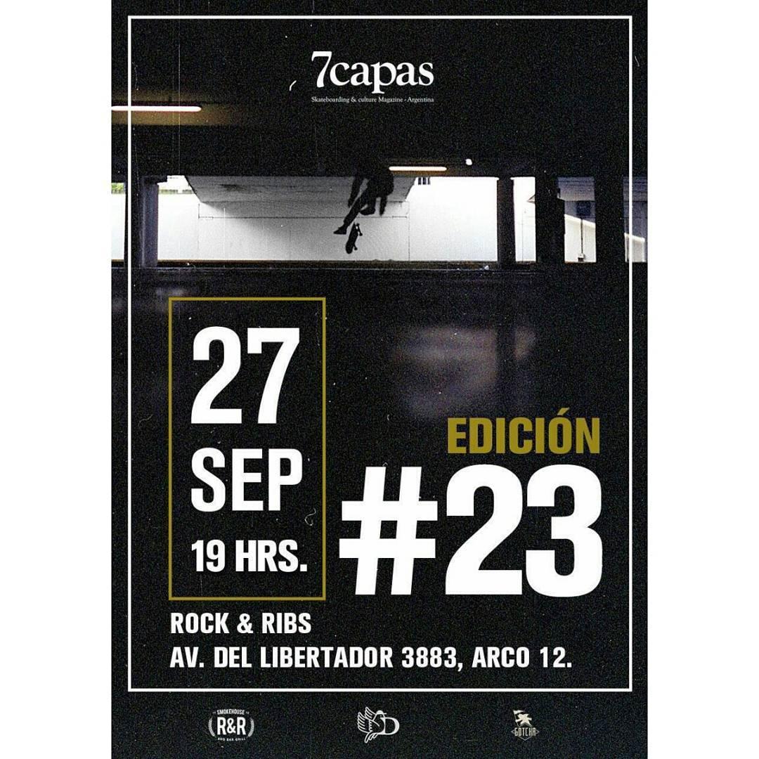 """Este Martes 27/9 estaremos en la presentación de la revista #7capas numero 23 donde se proyectara """"Lengua Negra"""" el #audiovisual de @wallacejuano by @gotchaarg  Los Esperamos!  #skateboarding #iconsneverdie"""