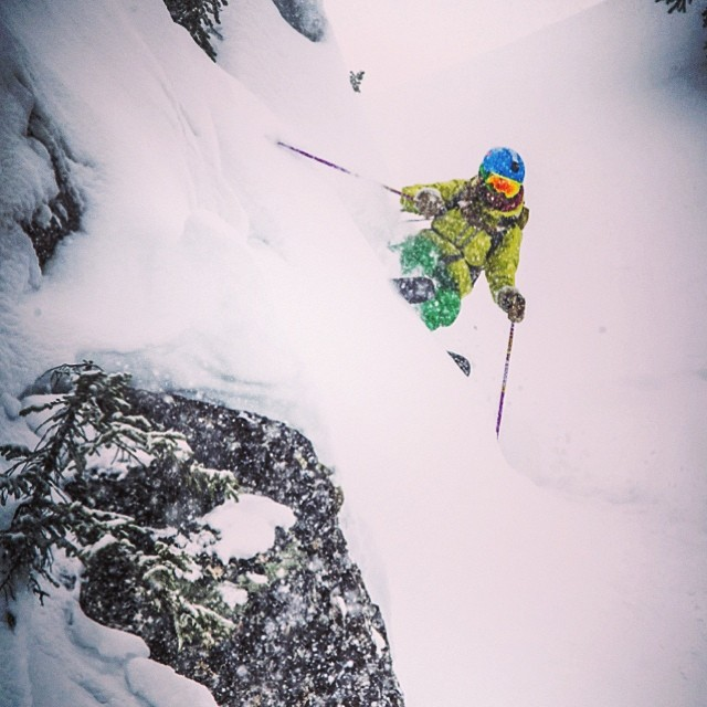 Flylow athlete Nicole Derksen got after it all season in Revie. Photo: William Eaton.  #embracethestorm