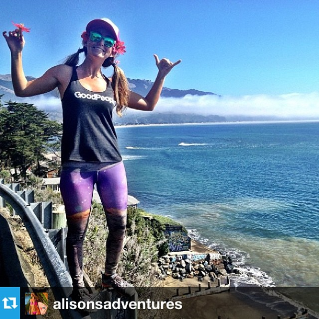 .@alisonsadventures looking good in her new #goodpeople tank on her adventures in #norcal #regram