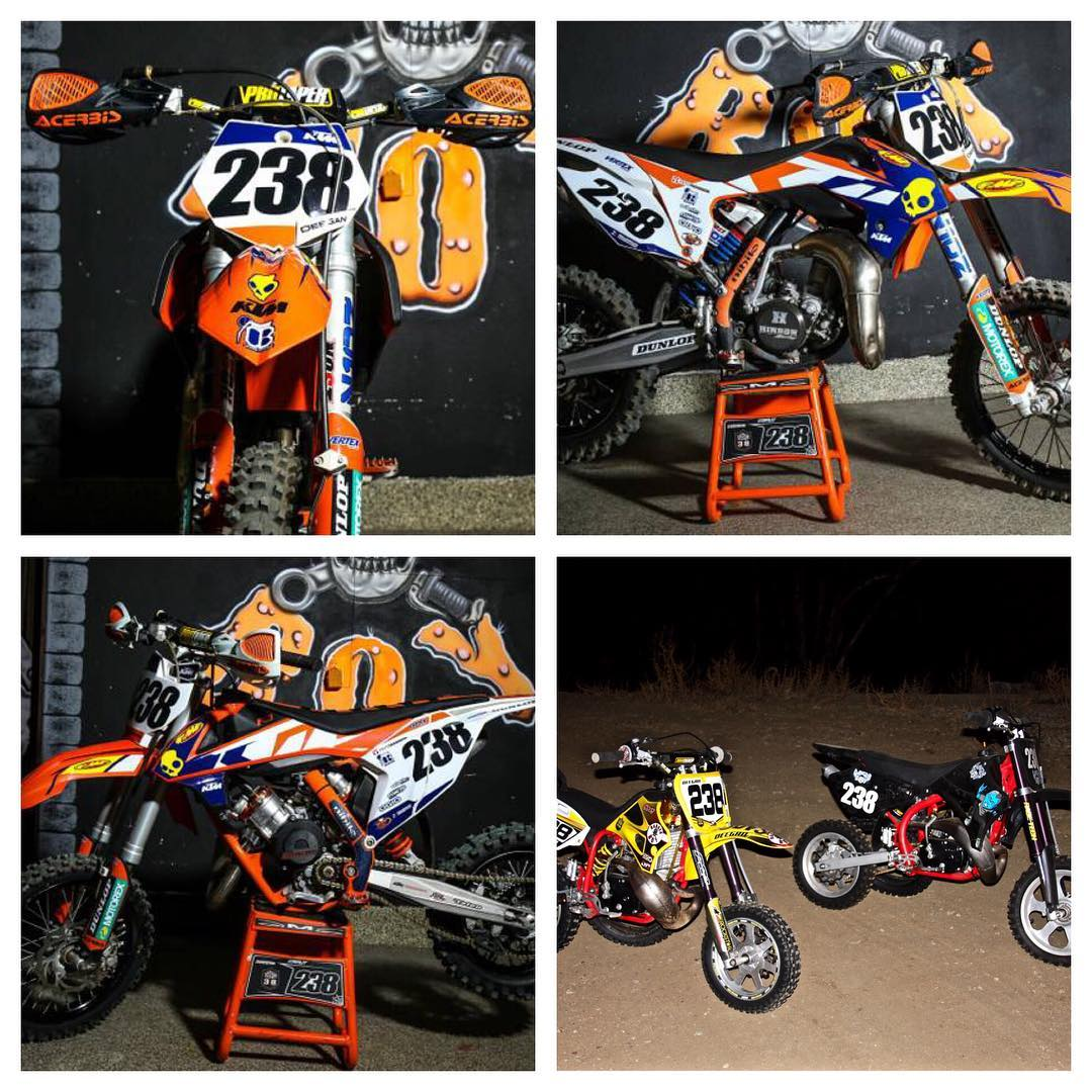 Have a few bikes for sale. @dangerboydeegan @ktmusa 2016 65 and 2016 85. As well as a cobra jr50 and a sr60. Serious buyers only please DM me, kids have your parents DM. They are for pick up. Located in Temecula.