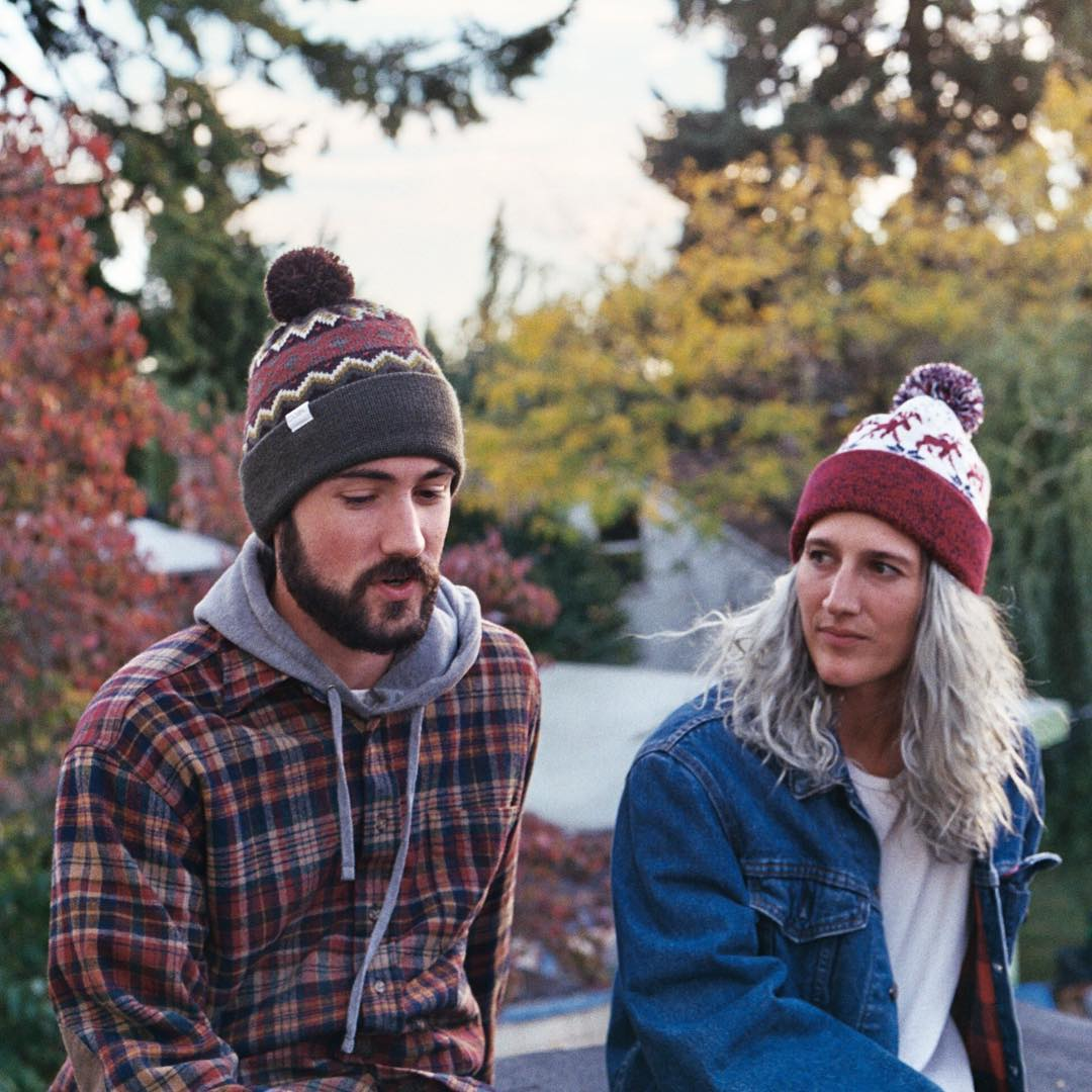 We're having our own #debate: Which pom beanie reigns supreme, The Winters or The Lodge? Chime in below! #coalheadwear #ApproachWinter
