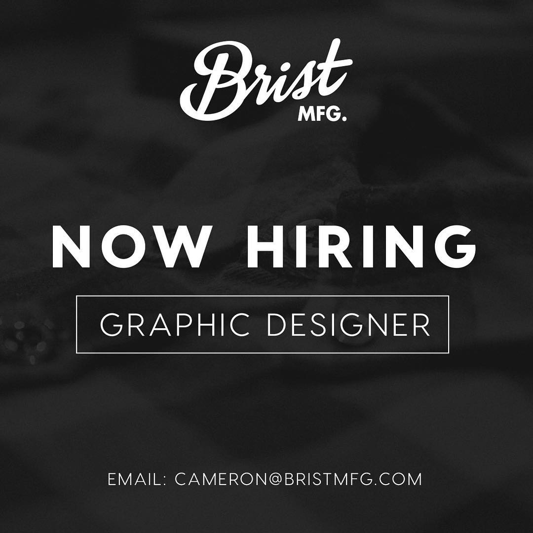Our sister company @bristmfg is looking to hire an experienced graphic designer! If you are interested in joining the team send your resume and portfolio to cameron@bristmfg.com #pnw #disidual #bristmfg #bellingham