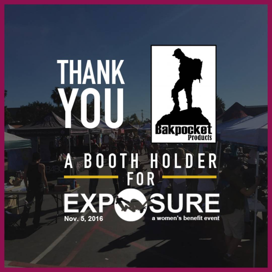 Thank You @bakpocketproducts for holding down a booth at our event! They design and create a wide range of unique products that will get you outdoors, exploring on all kinds of adventures, from the mountains to the sea!