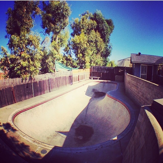 Regram @pocketpistols backyard pockets. Shot with @olloclip . #skateboarding #california