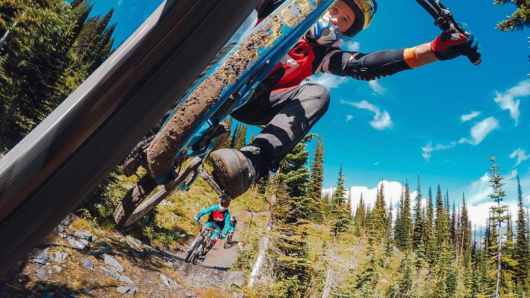 Photo of the Day! Crushing the trails at Retallack Lodge with @aaronchase. #GoPro #britishcolumbia #getoutside #