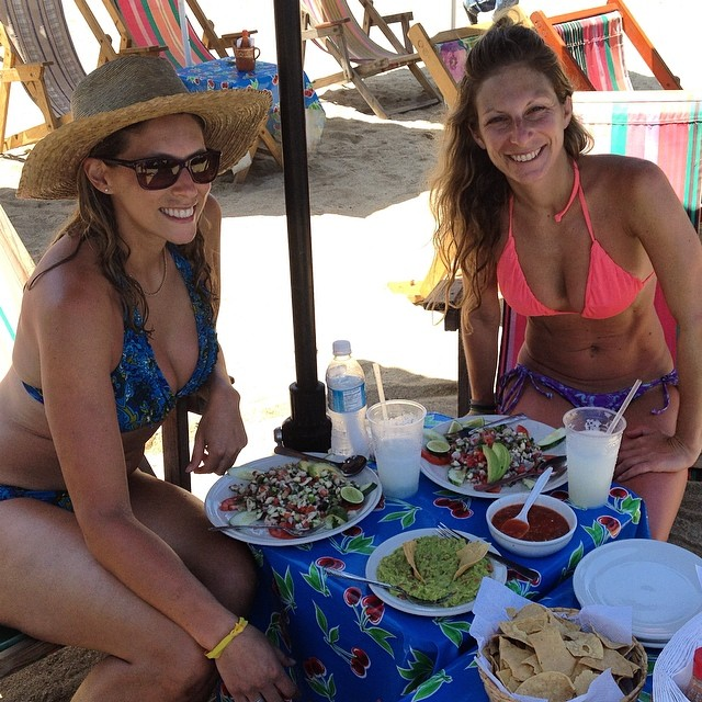 All the #ceviche @laurenschlanger and I can eat #fresh #seafood #sayulita #mexico #beachbum #beachdining #margaritas