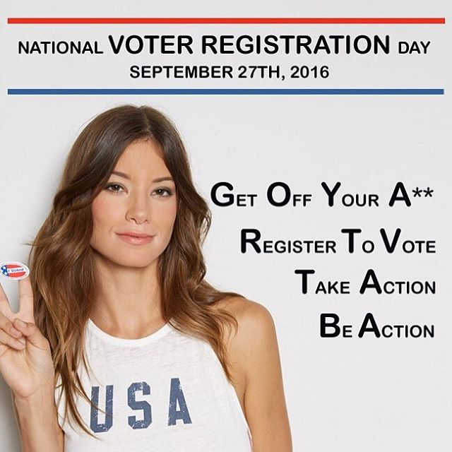 Your voice matters! Register to vote today. #vote #election2016 #giveashit