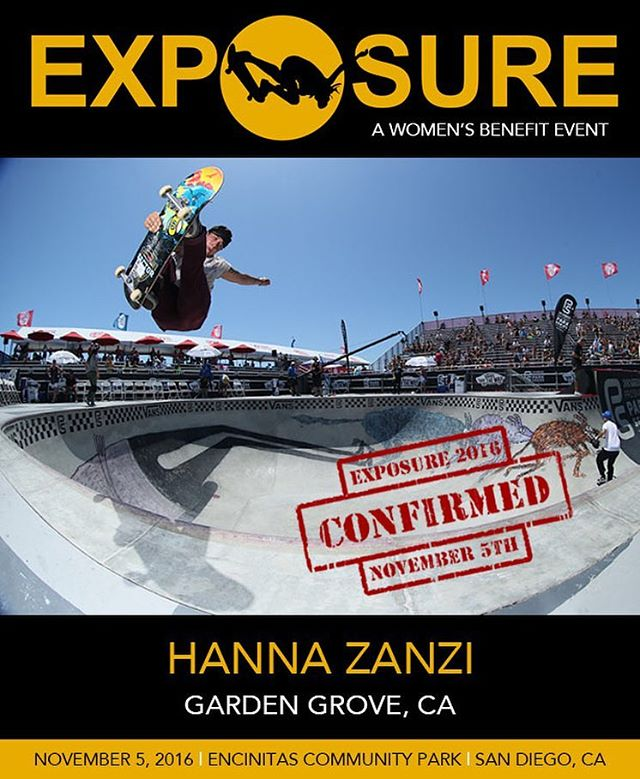 @hanna_zanzi is fired up! She was one of the first to register for #exposure2016 ! If you are planning on skating in our women's vert, bowl or street competitions, click the link in our bio to register!