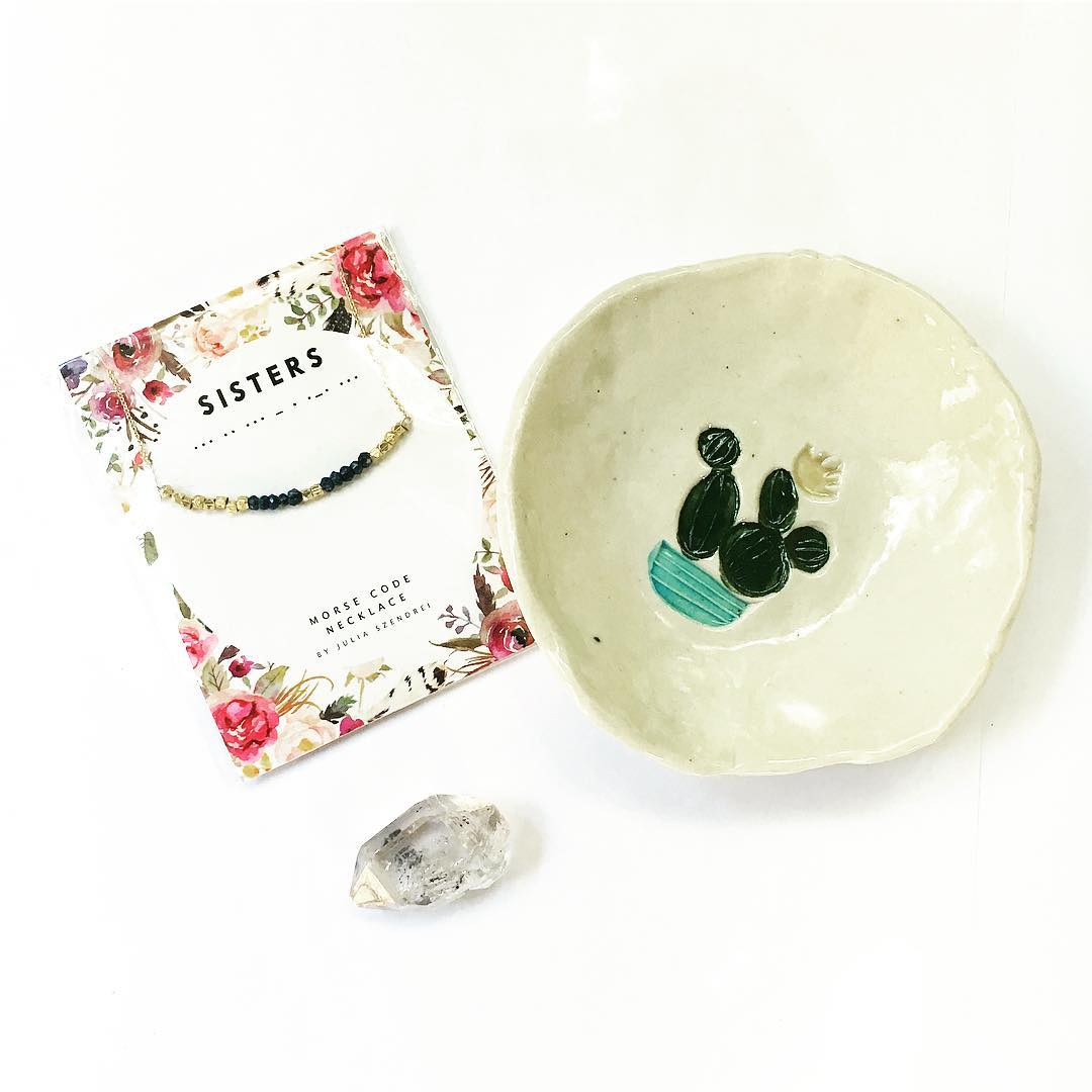 Party pack! Gift yourself or a friend today! Visit the shop and be sure to check out @lafortune_artisania for her beautiful ceramic dishes!!! #giftguide #cactus #ceramics #morsecode #herkimerdiamond #saguaro #crystalgypsy #gypsy #rocks #yogi #yogastyle...
