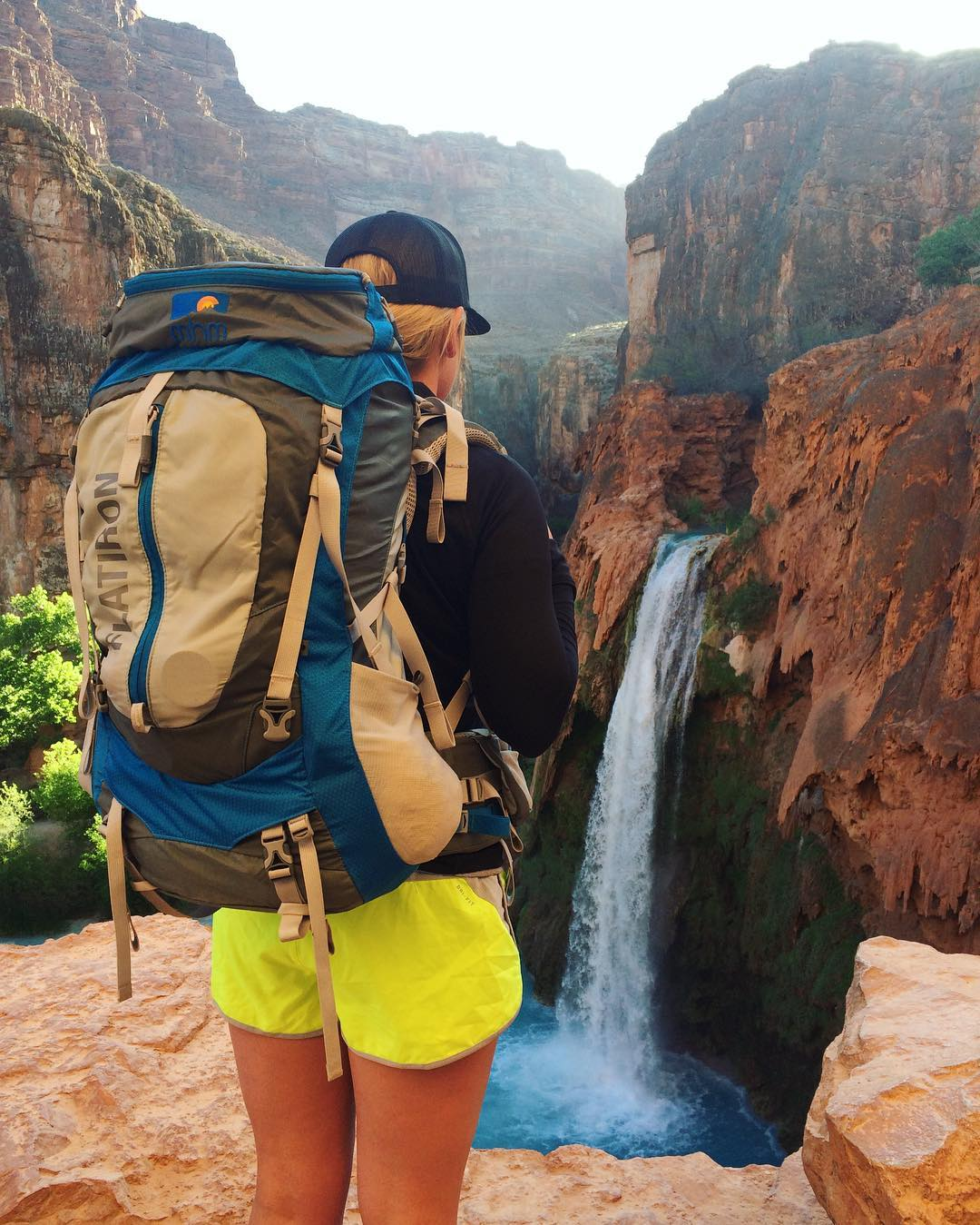It's not so much about the destination as it is the journey. Although, in this case, the destination is pretty damn rad. MHM friend @kbauer824 at Havasu Falls. #MHMgear #PacksElevated #HavasuFalls #Havasupai