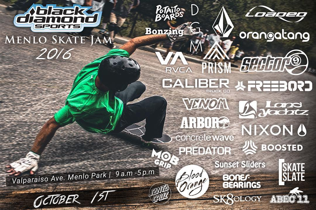 the Menlo skate jam is right around the corner. @jameskelly_shm and @liam_lbdr_ will be judging so if you're in the area come through and say whastup!