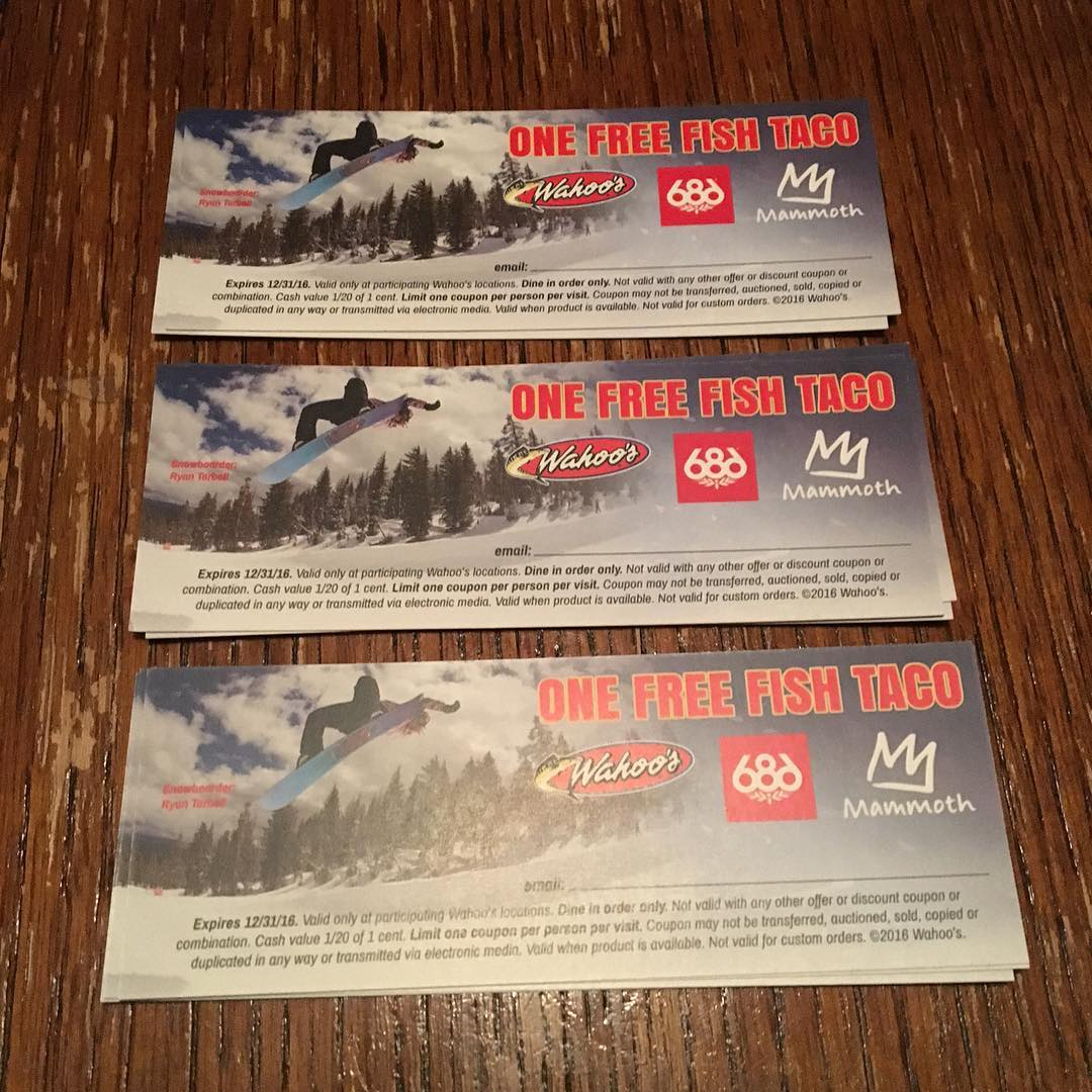 Free fish taco coupons from @wahoosfishtaco starring @ryan_tarbell get them while you can!