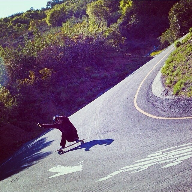 High speed slide @f_cooper_d . #s1helmets #cadillacwheels #valhallaskateboards