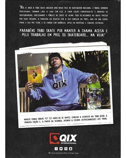 Confira a homenagem feita pelo skatista Marcos ET na edição comemorativa de 25 anos da revista Tribo Skate. QIX.COM.BR #qix #qixskate #skate #skateboardminhavida