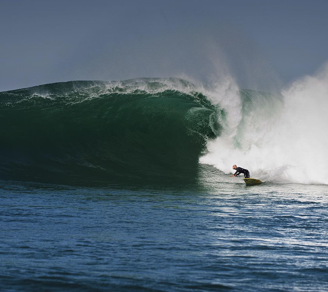 @shanedorian putting the Furnace Carbon X through some heavy R & D in Ireland. #Billabongwetsuits #Surfallday