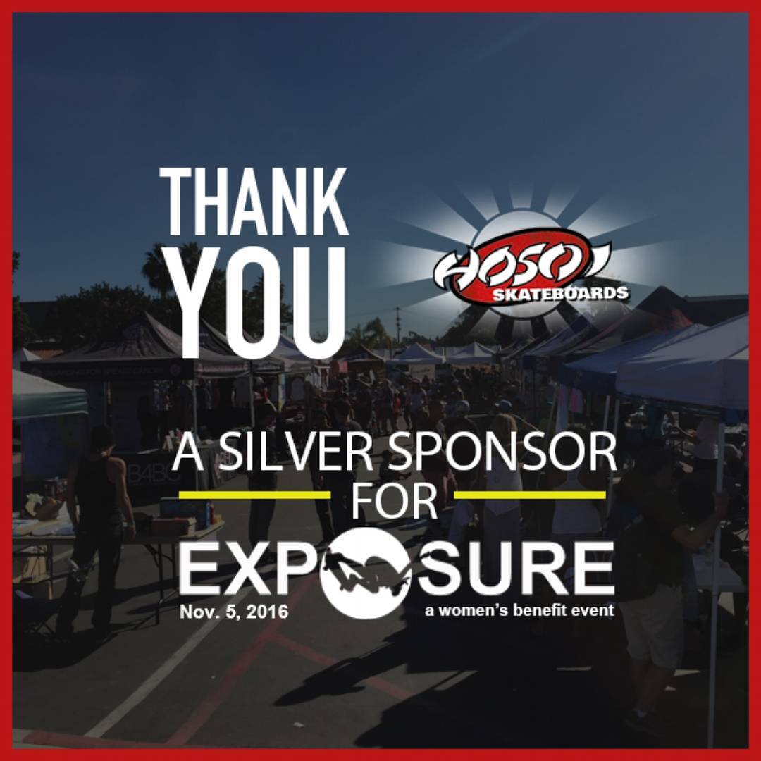 Thank You @hosoiskateboards for being a Silver Sponsor for EXPOSURE!!